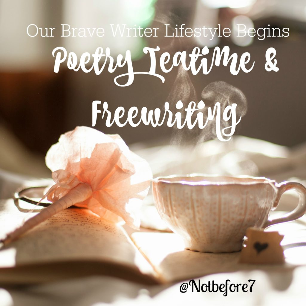 We began implementing the Brave Writer poetry teatime and freewriting elements into our homeschool three years ago. Click to read about how it all began.