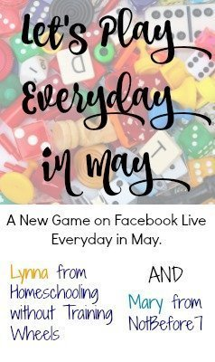 I'll be playing games everyday in May! Come learn new games for fun and for learning.