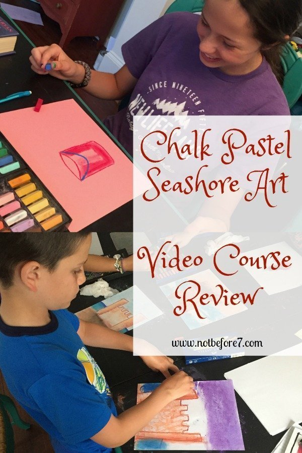 We had a great time with the Chalk Pastel Seashore Art Course.