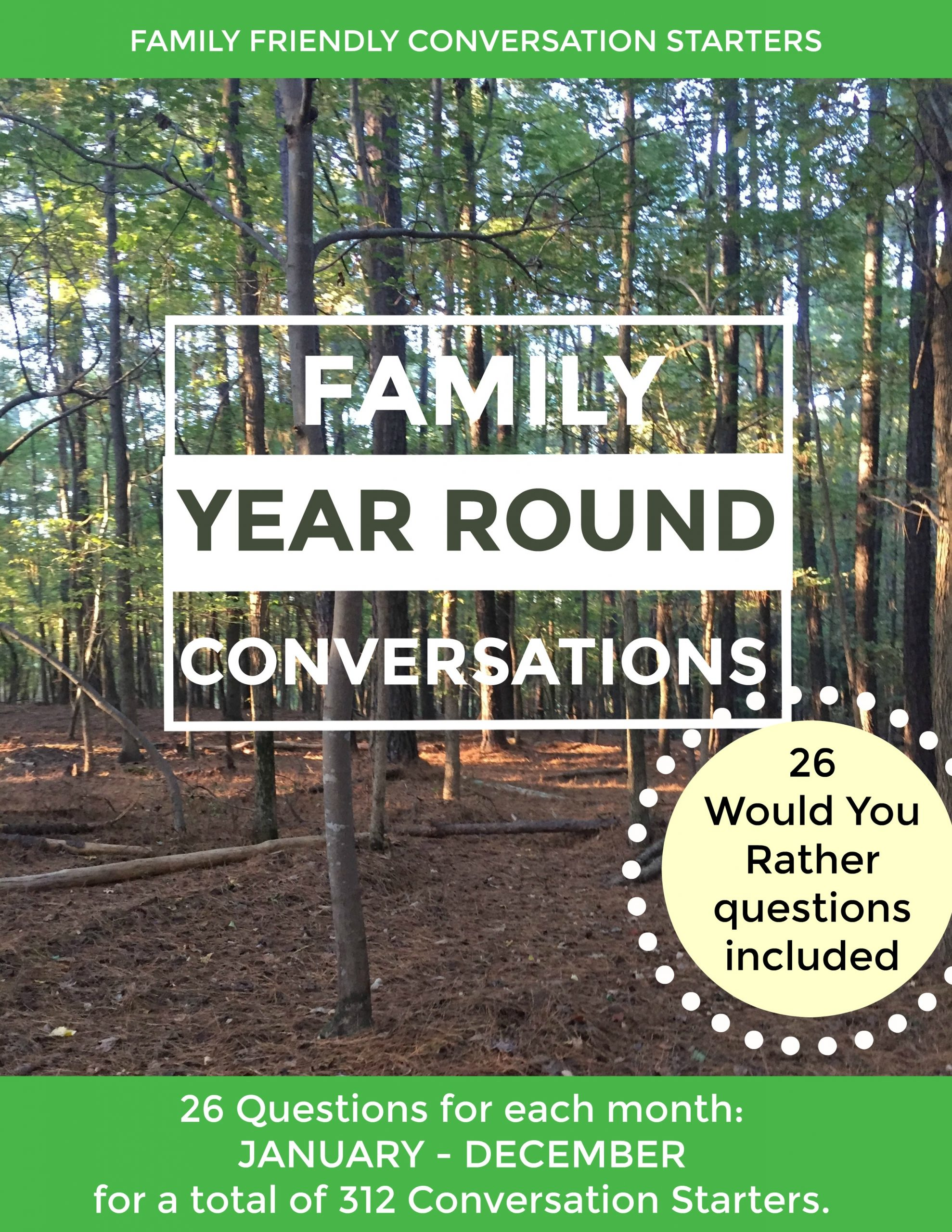Family Conversation Starters to use with your kids.