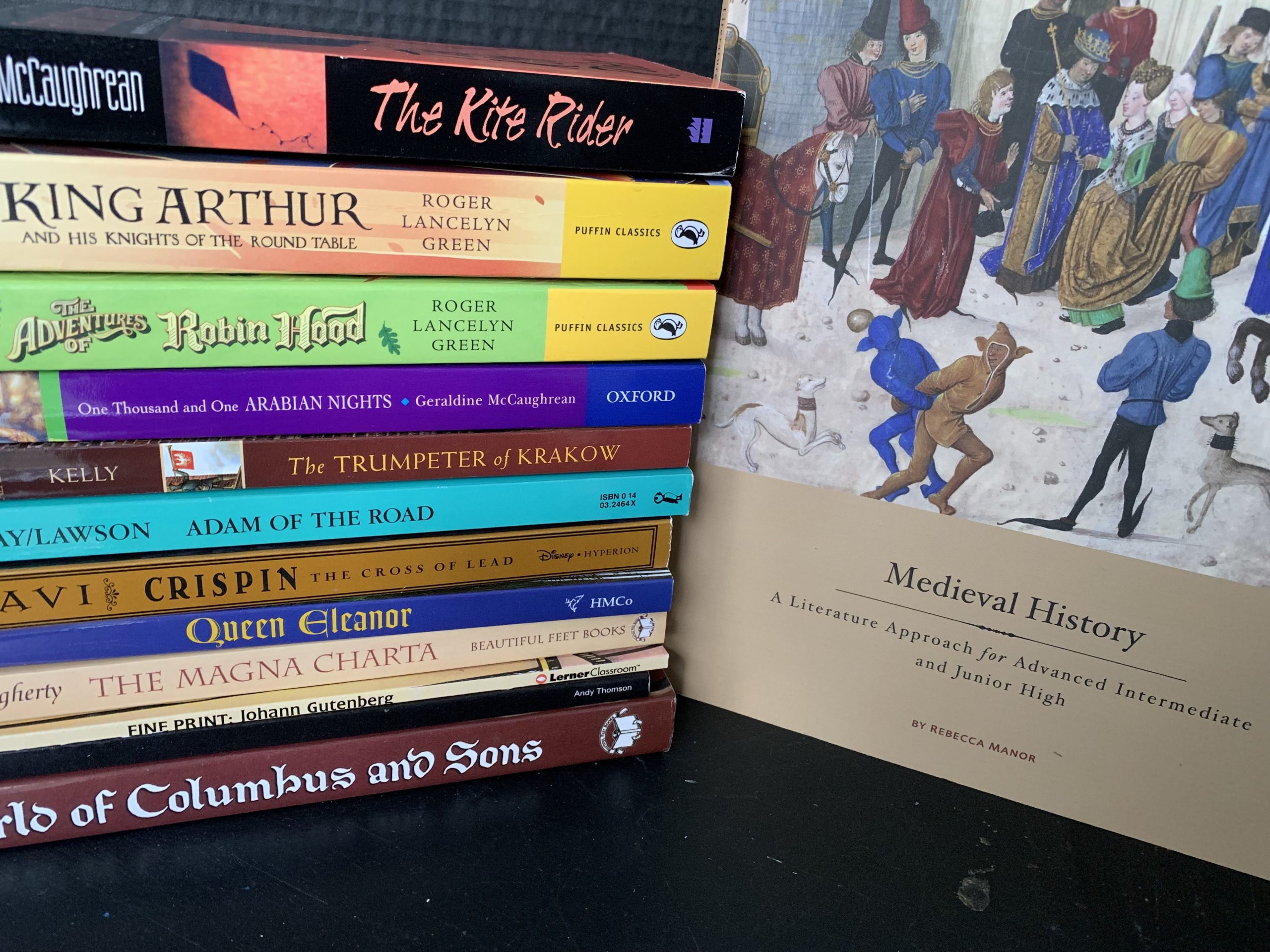 Medieval History with Beautiful Feet books