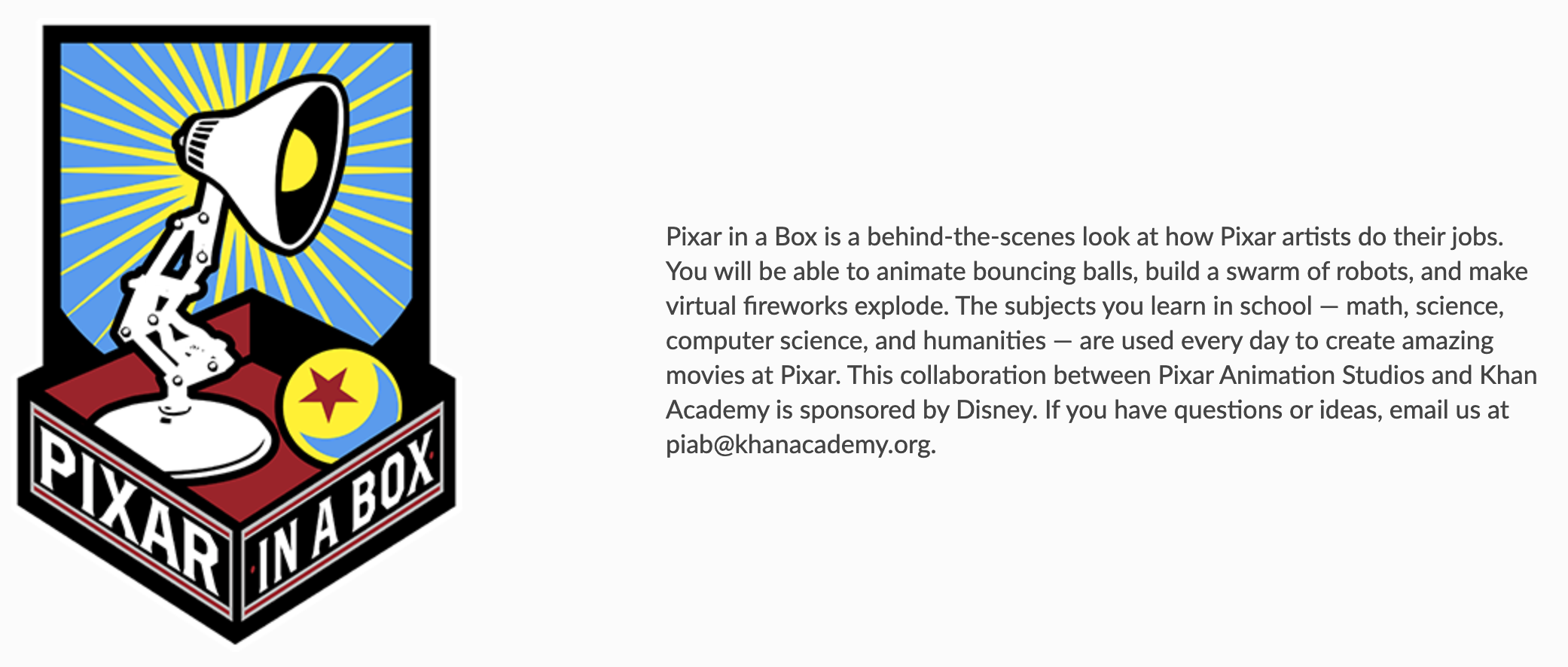Storytelling with Kids using these free lessons from pixar in a box.