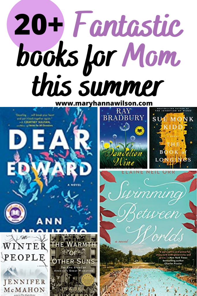 This summer reading list for mom includes a vareity of books