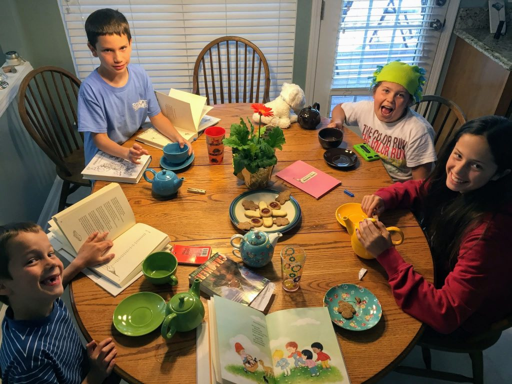 Poetry teatime ideas are easy to find so you can share delightful memories with your kids.