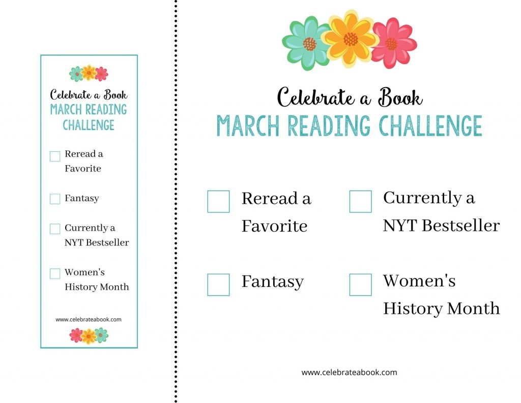 Grab your free March Reading Challenge Printables