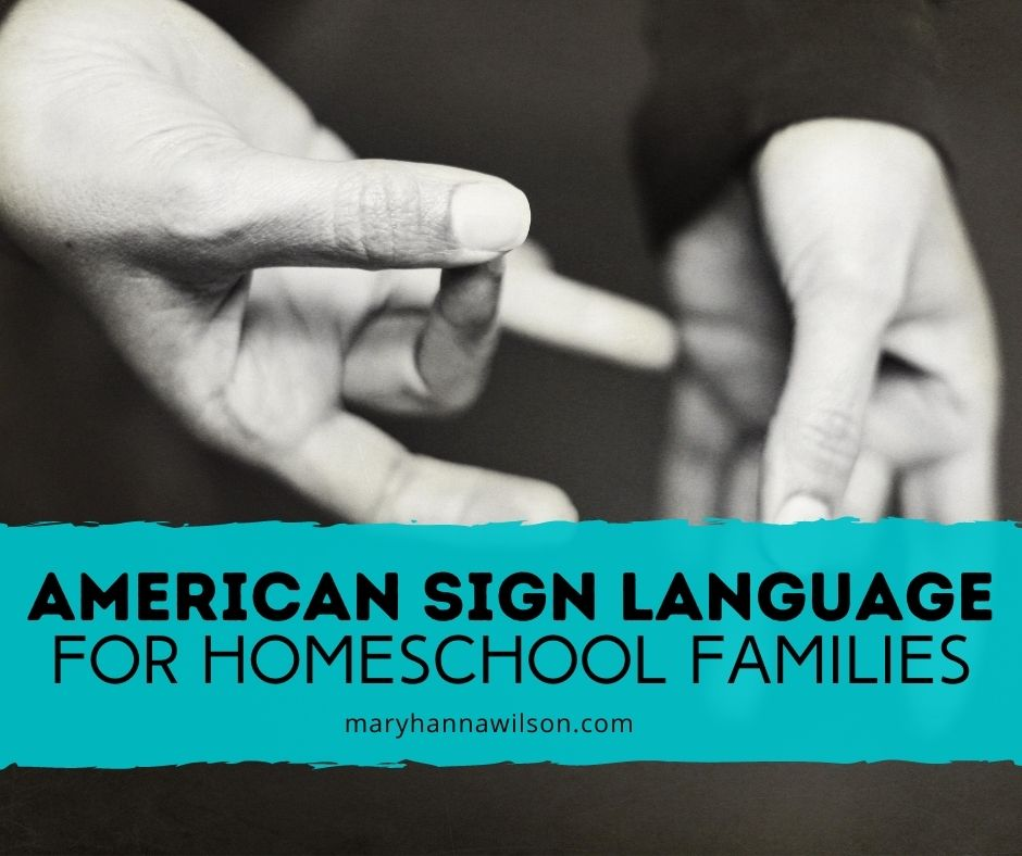 ASL classes for homeschool families