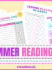 Summer reading printables to encourage reading